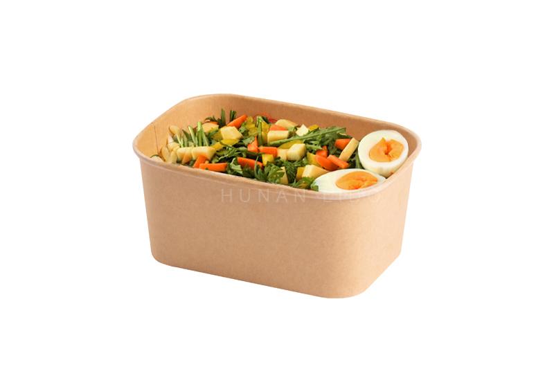 rectangular paper food container