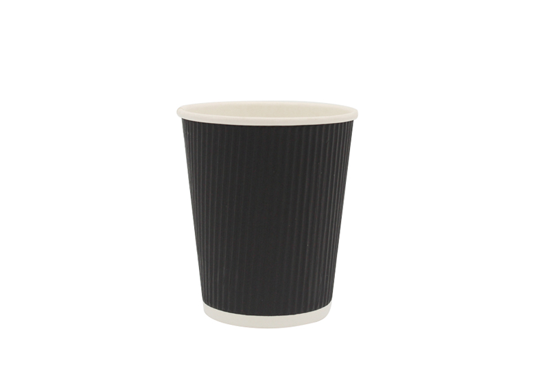 Glossy ripple wall paper cup